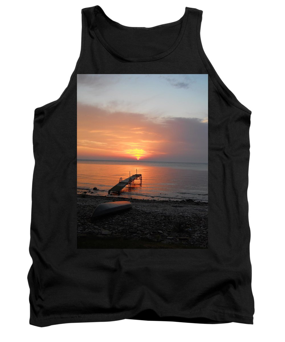 Kayaking Tank Top featuring the photograph Evening Rest by Carrie Godwin