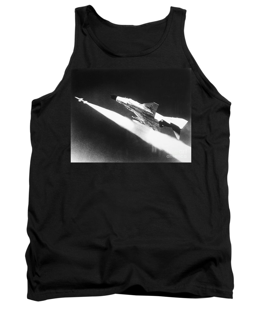 1966 Tank Top featuring the photograph F-4 Phantom Fighter Jet by Granger