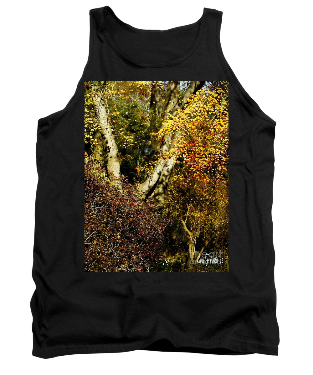 Fall Tank Top featuring the photograph Fall Color Wall Art Landscape by Carol F Austin