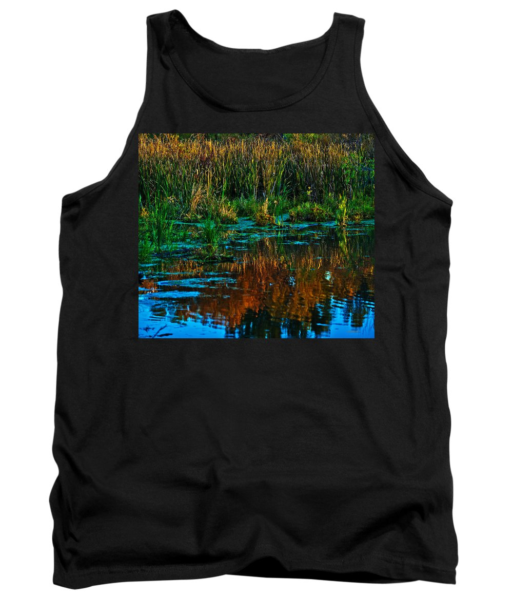 Fall Tank Top featuring the photograph Fall Reflection by Edward Peterson