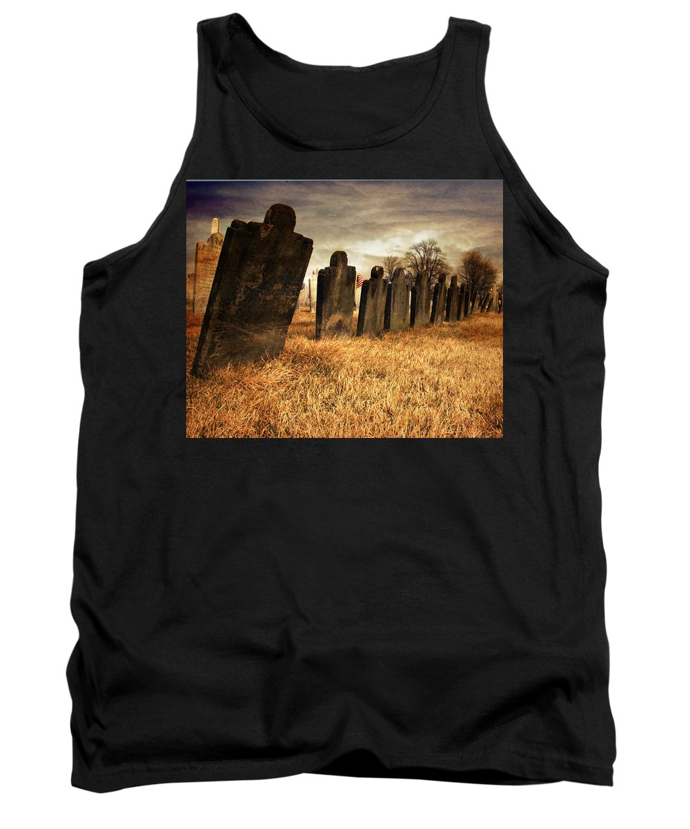 Tomb Stone Tank Top featuring the photograph Fallen Comrades Of The Civil War by Paul Ward