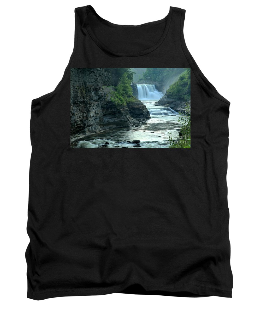 Letchworth State Park Tank Top featuring the photograph Falling Into The Genesee by Adam Jewell