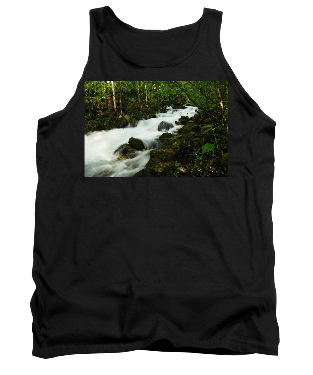 Rivers Tank Top featuring the photograph Fast Water by Jeff Swan