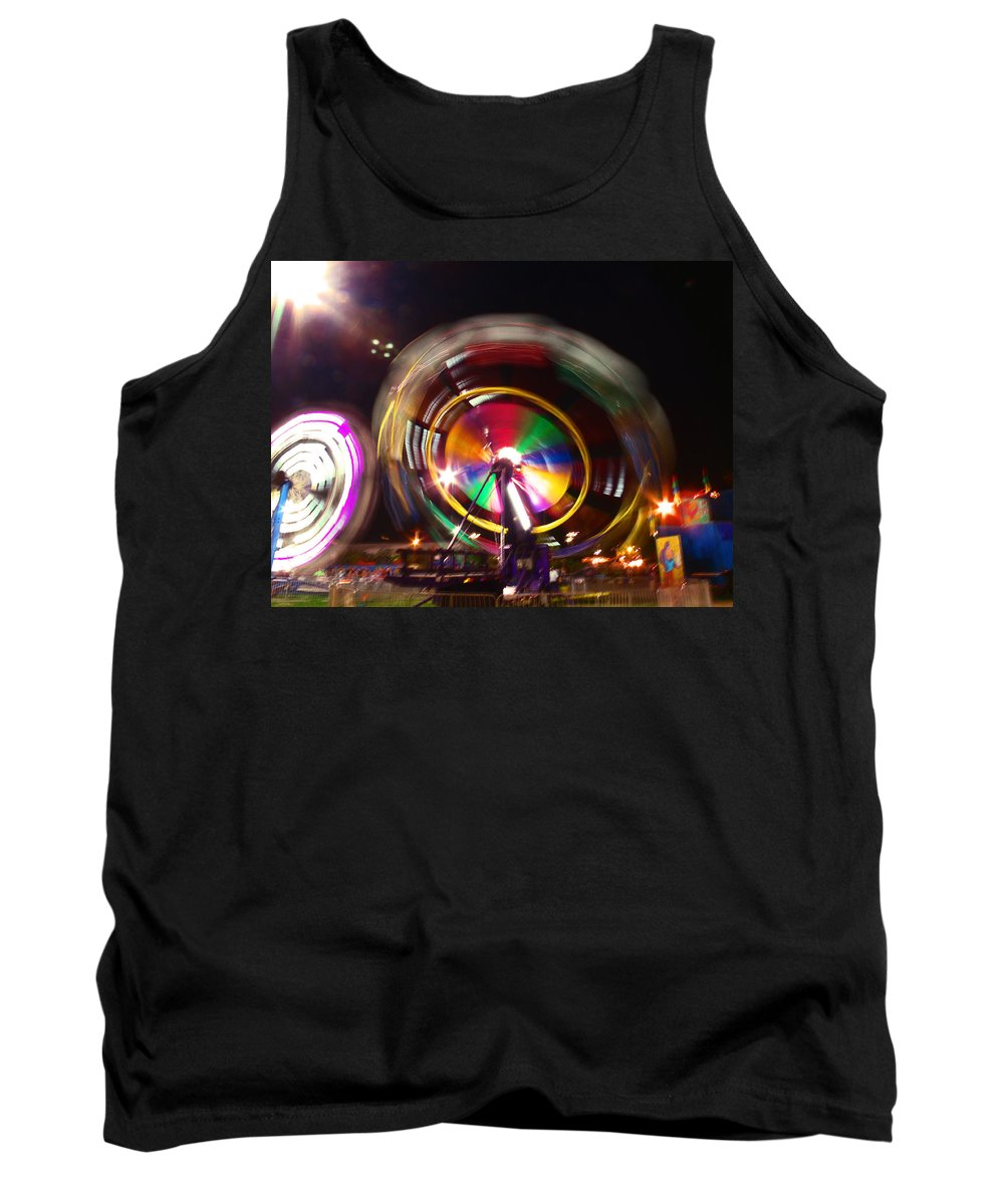 Ferris Wheels Tank Top featuring the photograph Ferris Wheels Go Round by Kym Backland