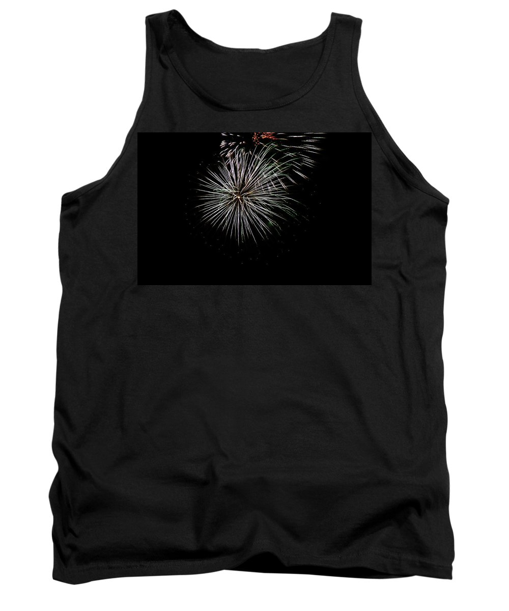 Fireworks Tank Top featuring the photograph Fireworks Fun 3 by Marilyn Hunt