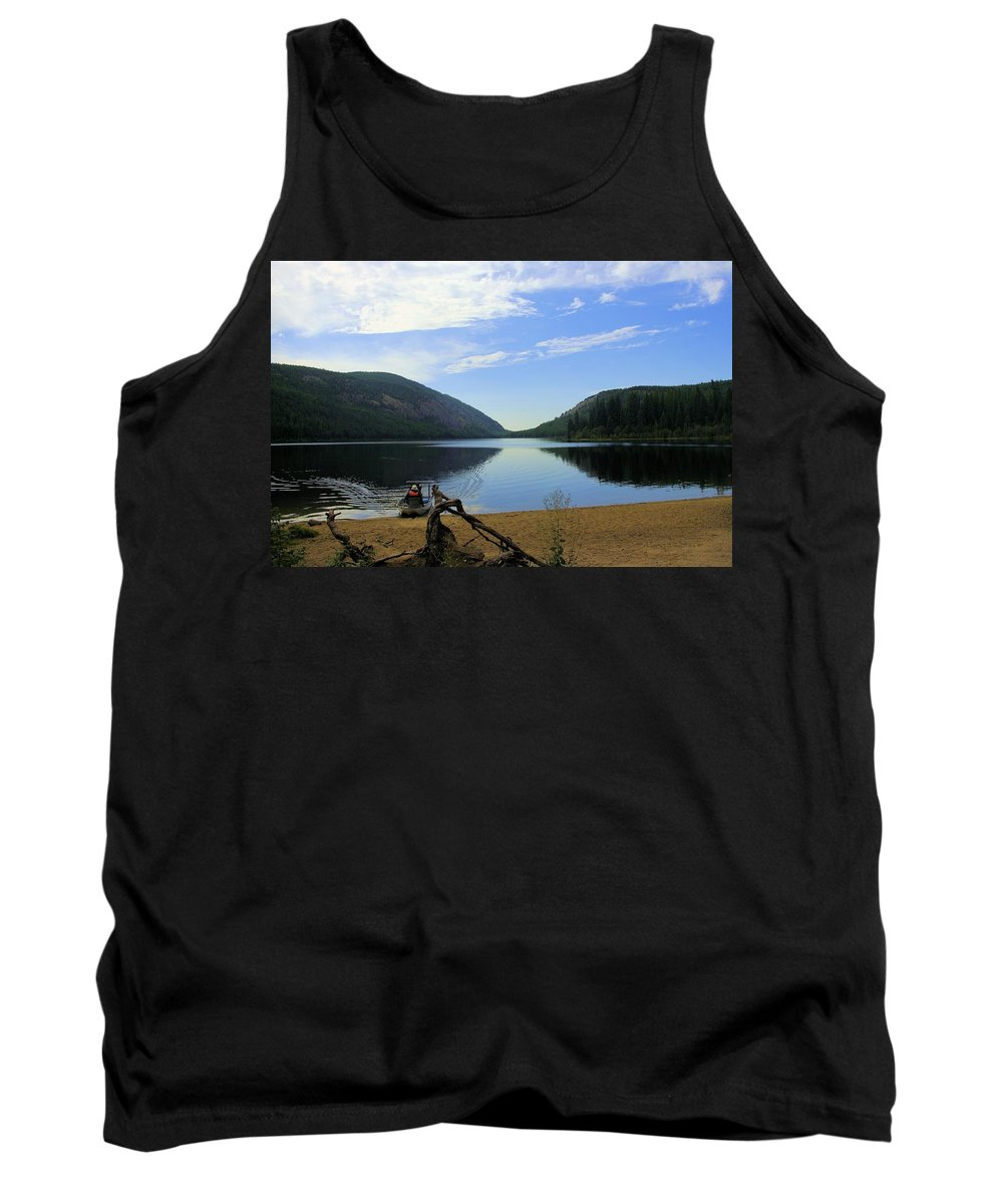 Conkle Lake Tank Top featuring the photograph Fishing Conkle Lake by John Greaves