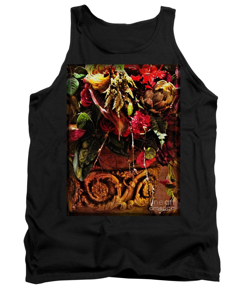 Floral Antique Tank Top featuring the photograph Floral Antique by Joan Minchak