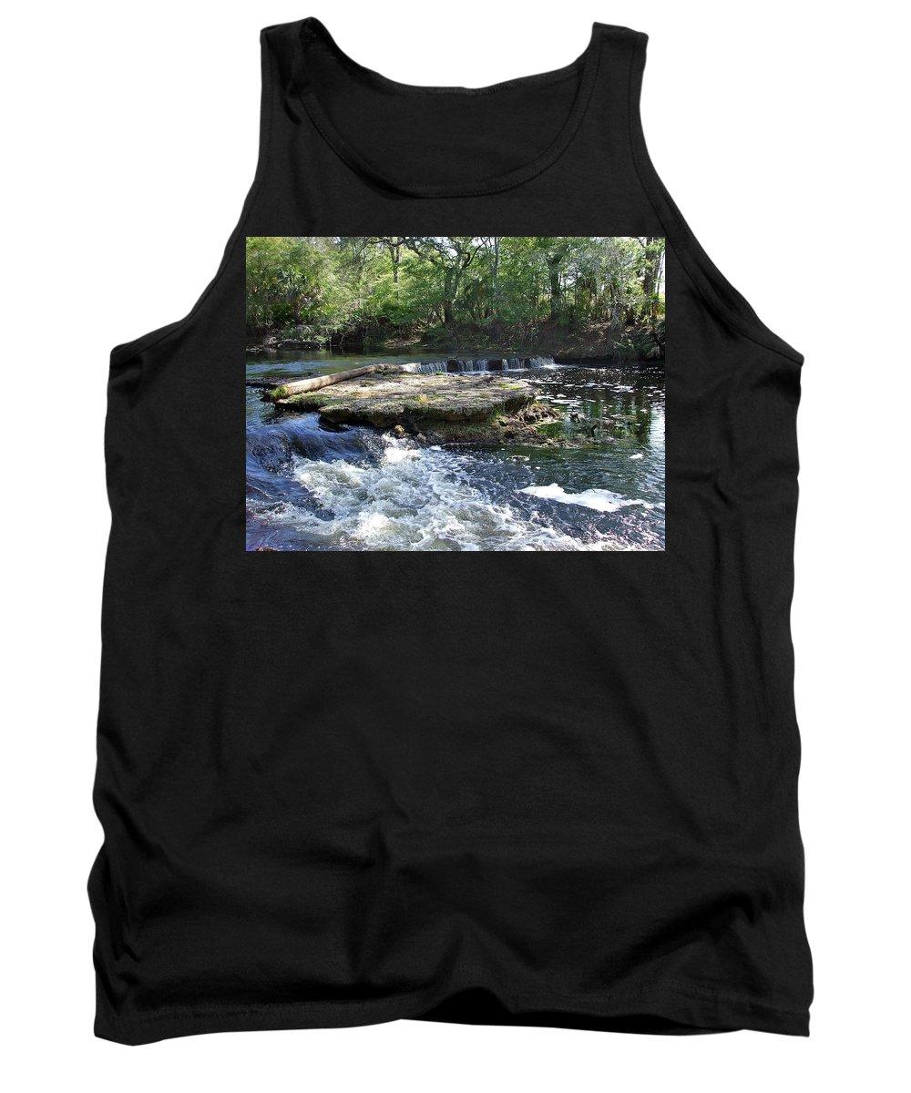 Serene Tank Top featuring the photograph Florida Rapids by Susan Wyman