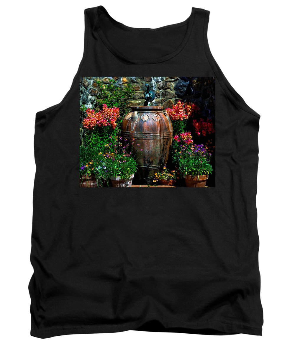 Flowers Tank Top featuring the photograph Flower Potts by Wanda J King