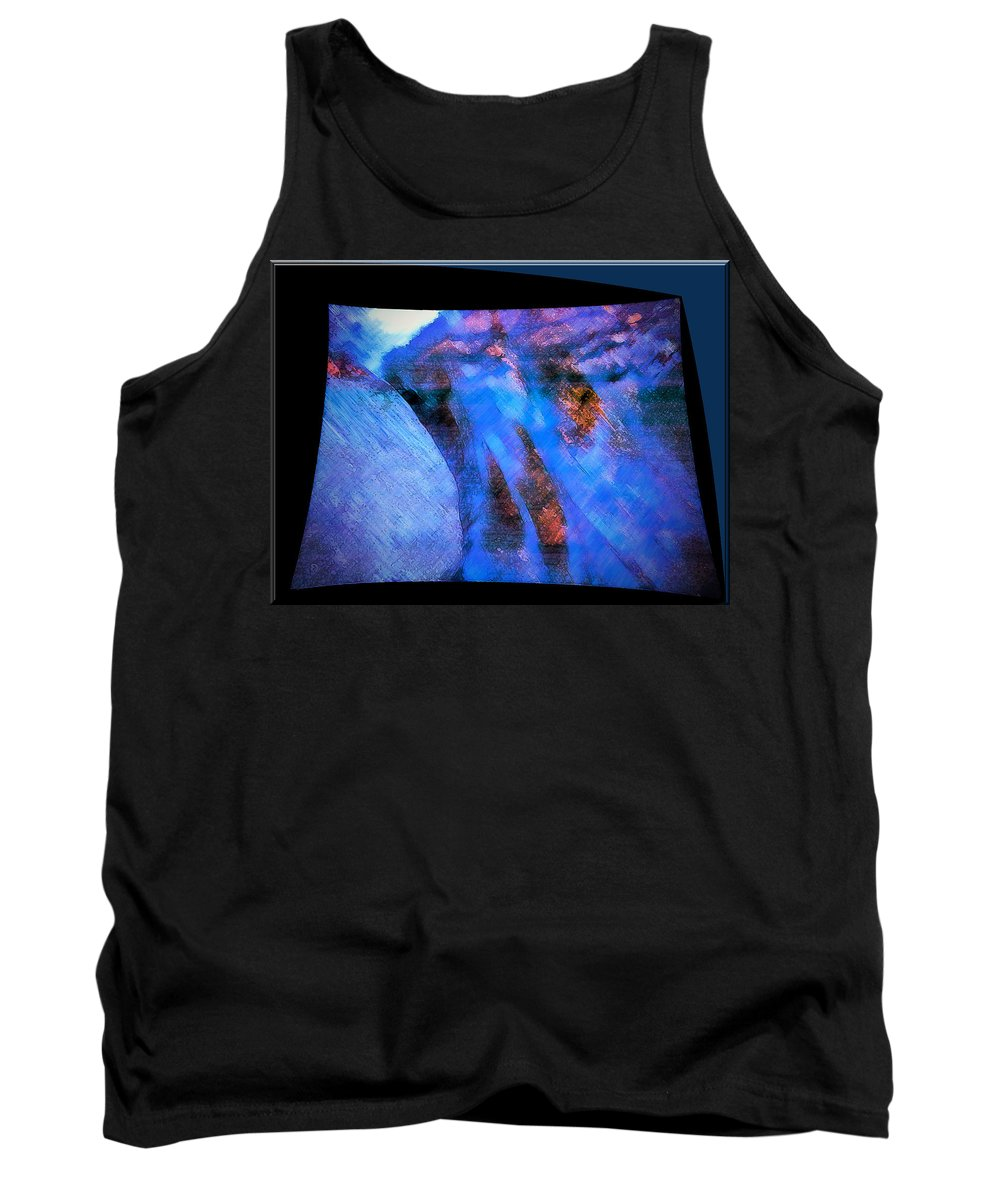 River Tank Top featuring the mixed media Flowing Water by Marie Jamieson