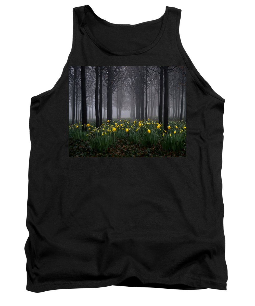 Forest Tank Top featuring the photograph Forest Daffodils by Andy Linden