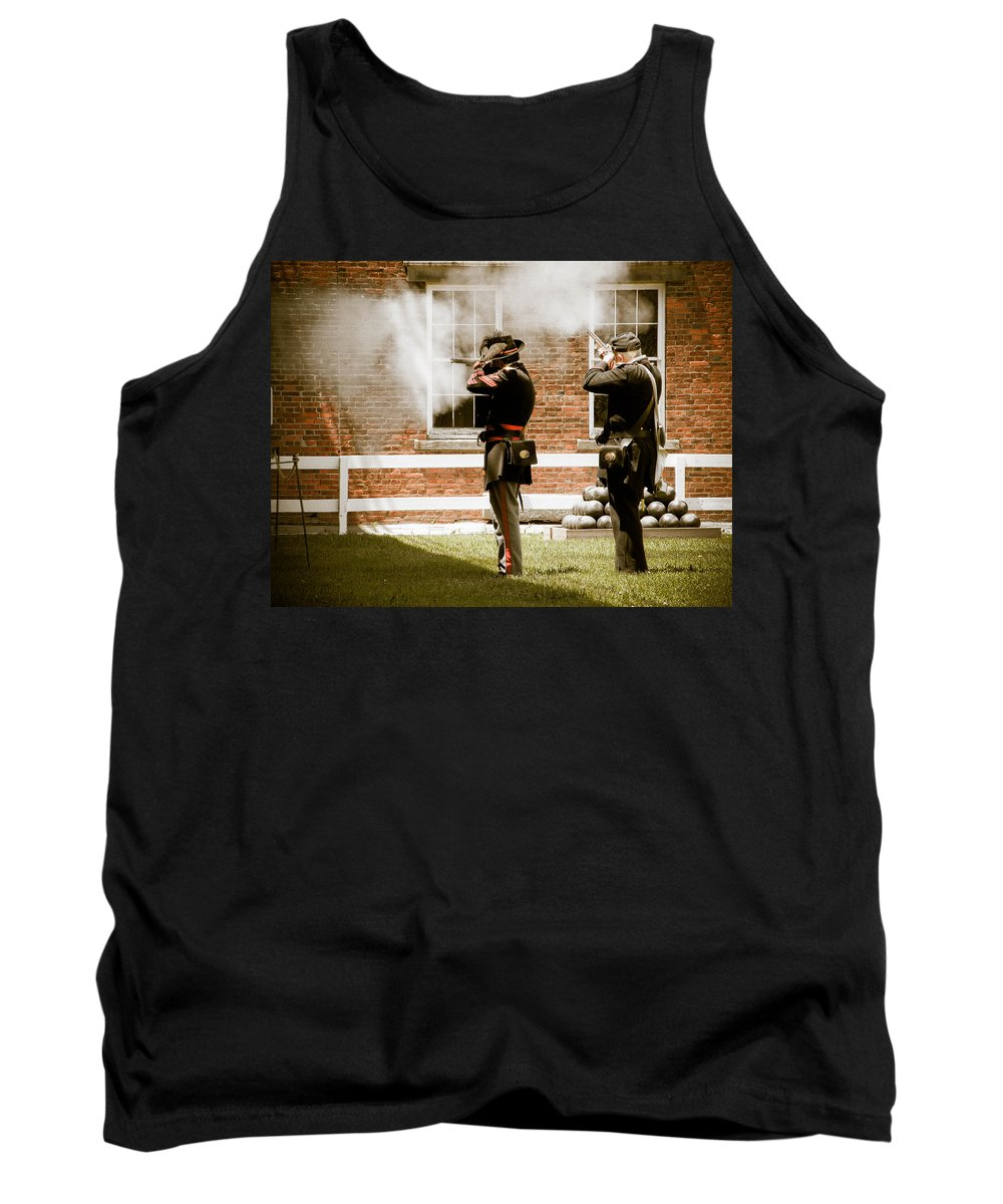 Fort Delaware Tank Top featuring the photograph Fort Delaware Military by Trish Tritz