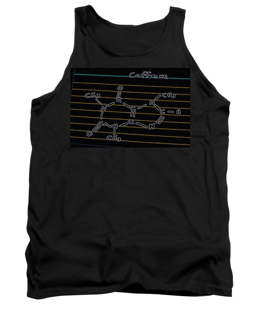 Molecular Structure Tank Top featuring the photograph Fortunately He Discovers Caffeine In Time by Bill Owen