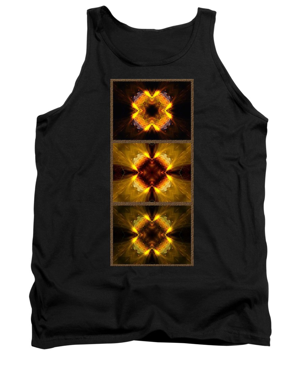 Fractals Tank Top featuring the photograph Fractal Triptych by Ellen Heaverlo