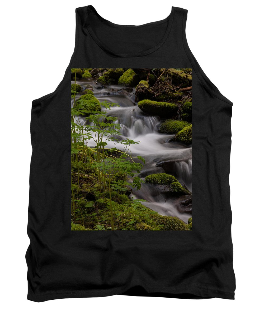 Olympic National Park Tank Top featuring the photograph Gently Falling by Mike Reid
