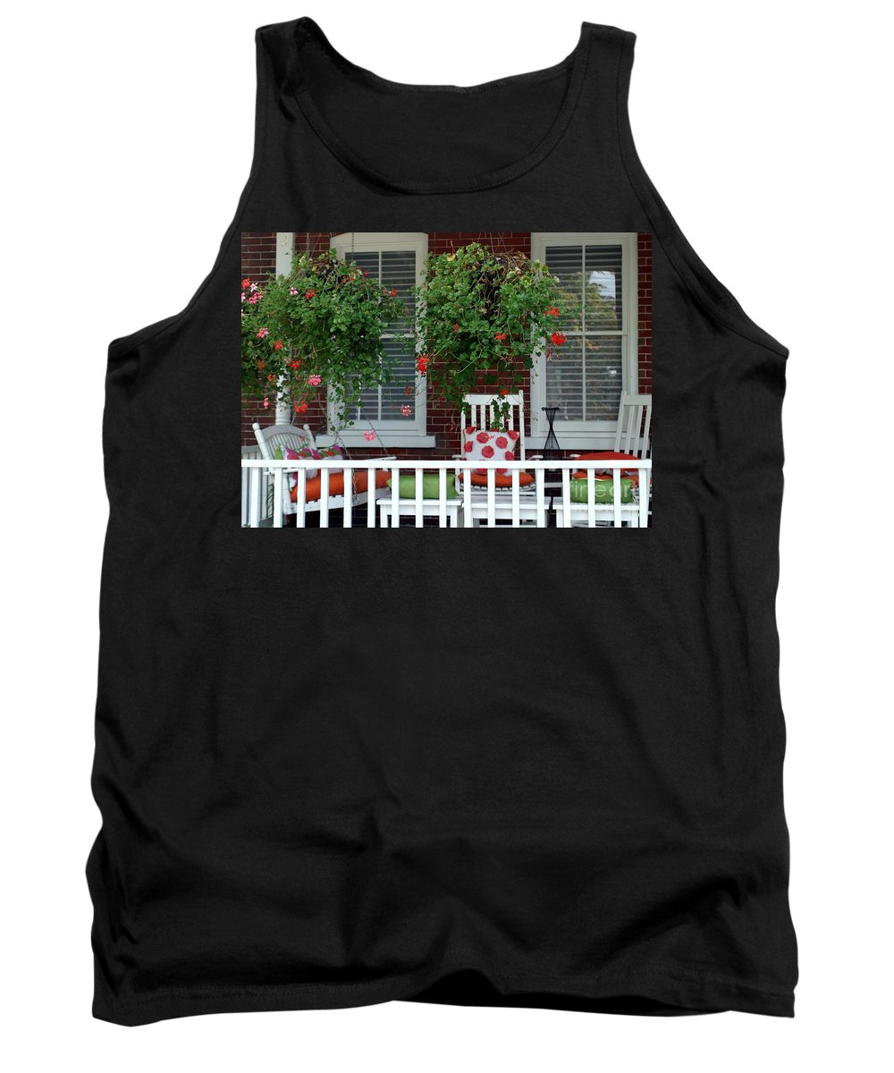 Porch Tank Top featuring the photograph Geranium Good Times 2 by Living Color Photography Lorraine Lynch