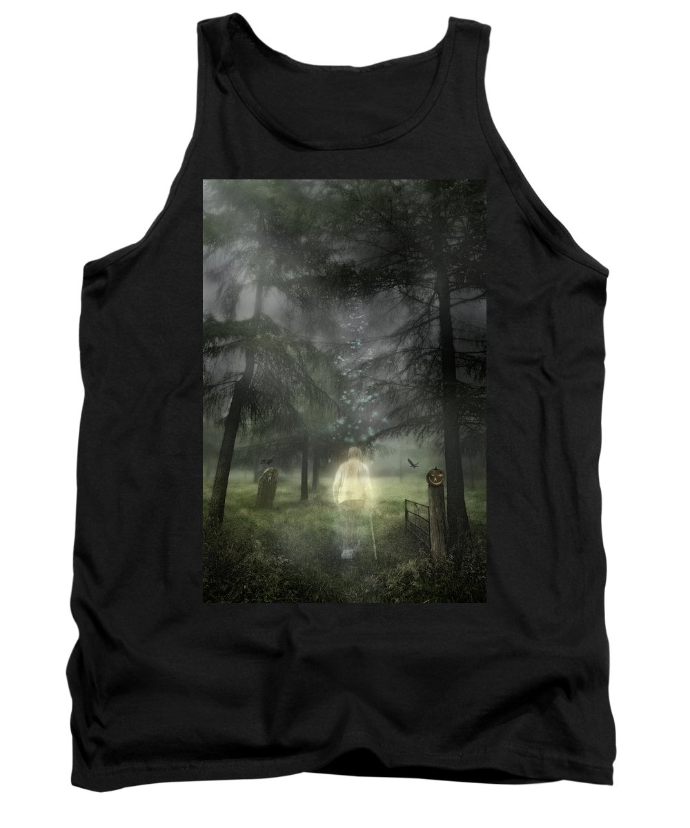 Ghostly Tank Top featuring the photograph Ghostly Gentleman by Amanda Elwell