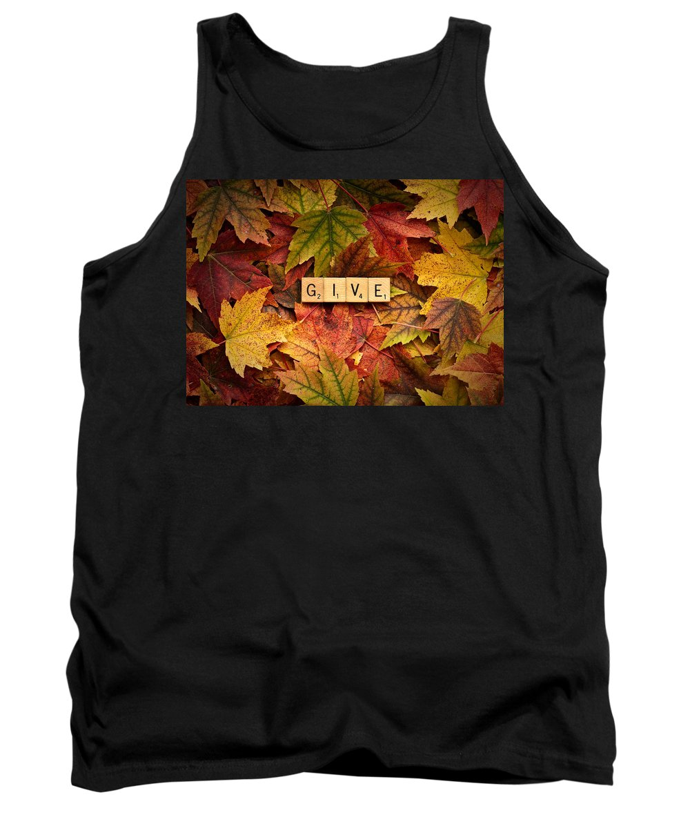 Daniel J. Kmiecik Tank Top featuring the photograph Give-autumn by Onyonet Photo Studios