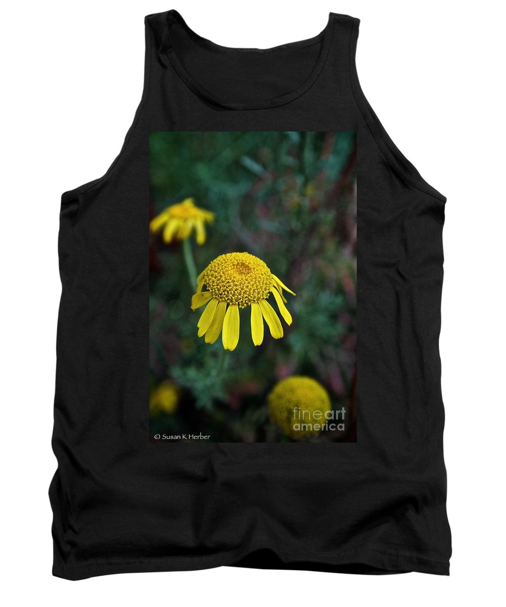 Outdoors Tank Top featuring the photograph Golden Margurite by Susan Herber