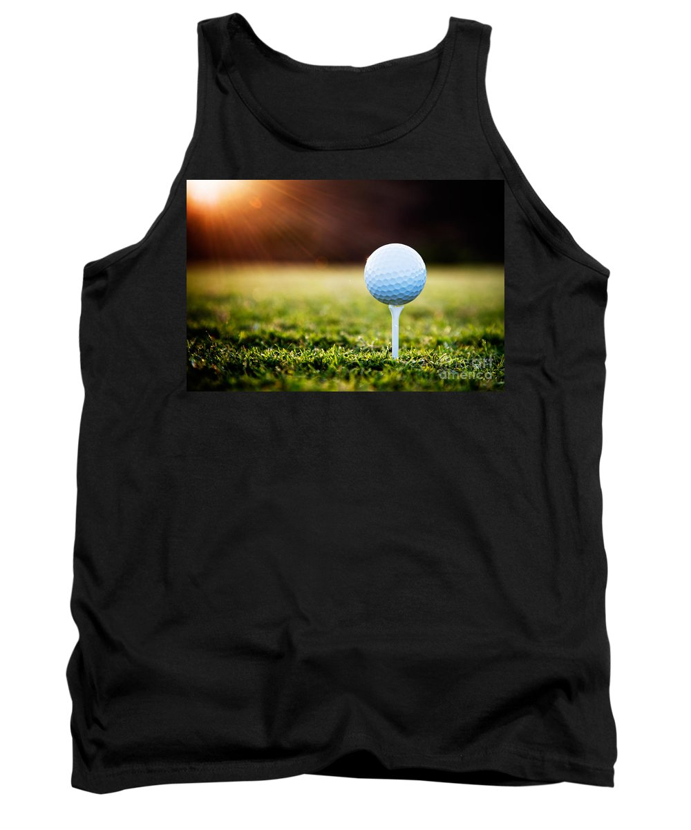 Background Tank Top featuring the photograph Golf by Kati Finell