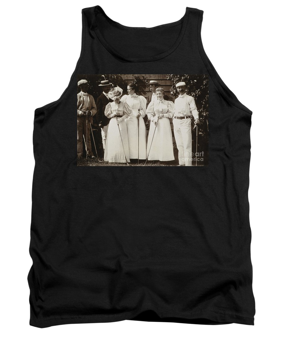 1895 Tank Top featuring the photograph Golfing Party, C1895 by Granger