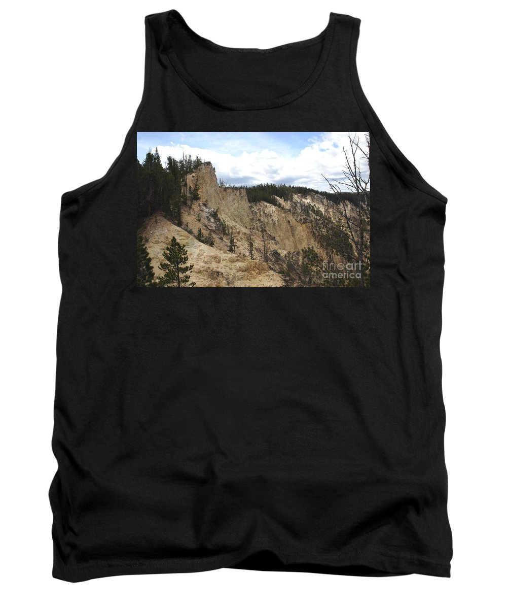 Grand Canyon Tank Top featuring the photograph Grand Canyon Cliff In Yellowstone by Living Color Photography Lorraine Lynch