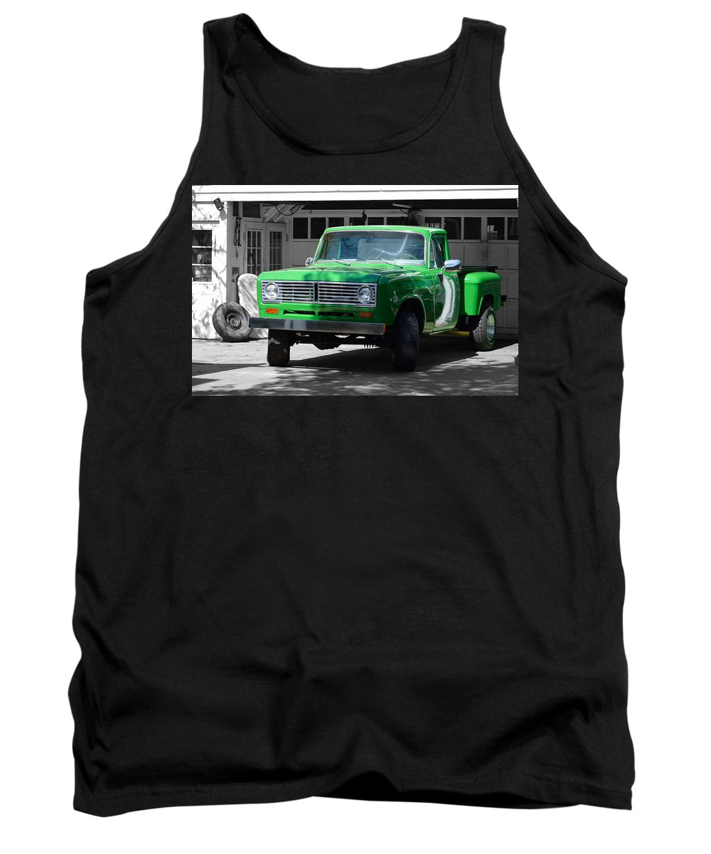Ancient Tank Top featuring the photograph Green And Gray by William Bartholomew