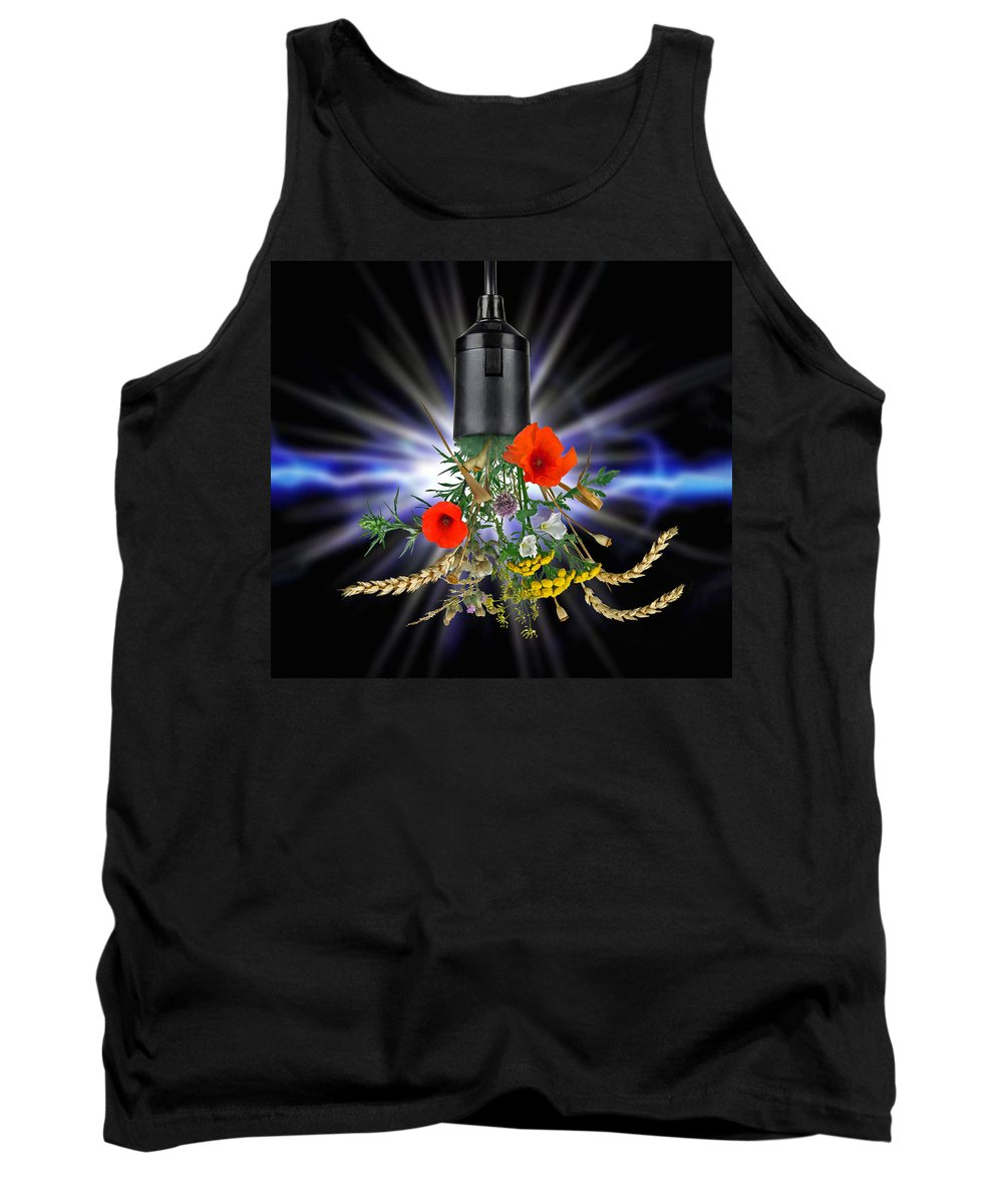 Current Tank Top featuring the photograph Green Power by Manfred Lutzius
