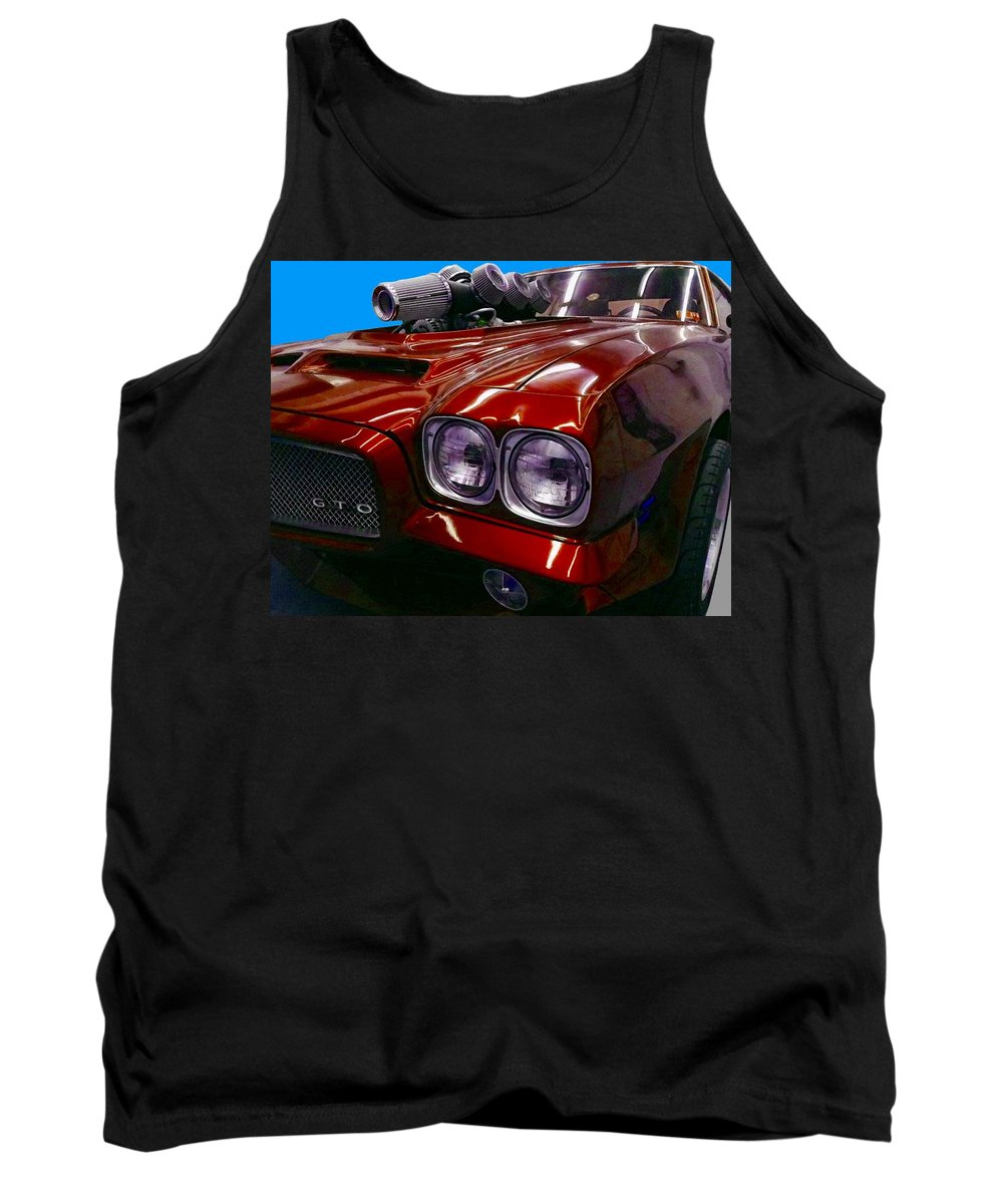 Pontiac Tank Top featuring the painting GTO by Paul Van Scott