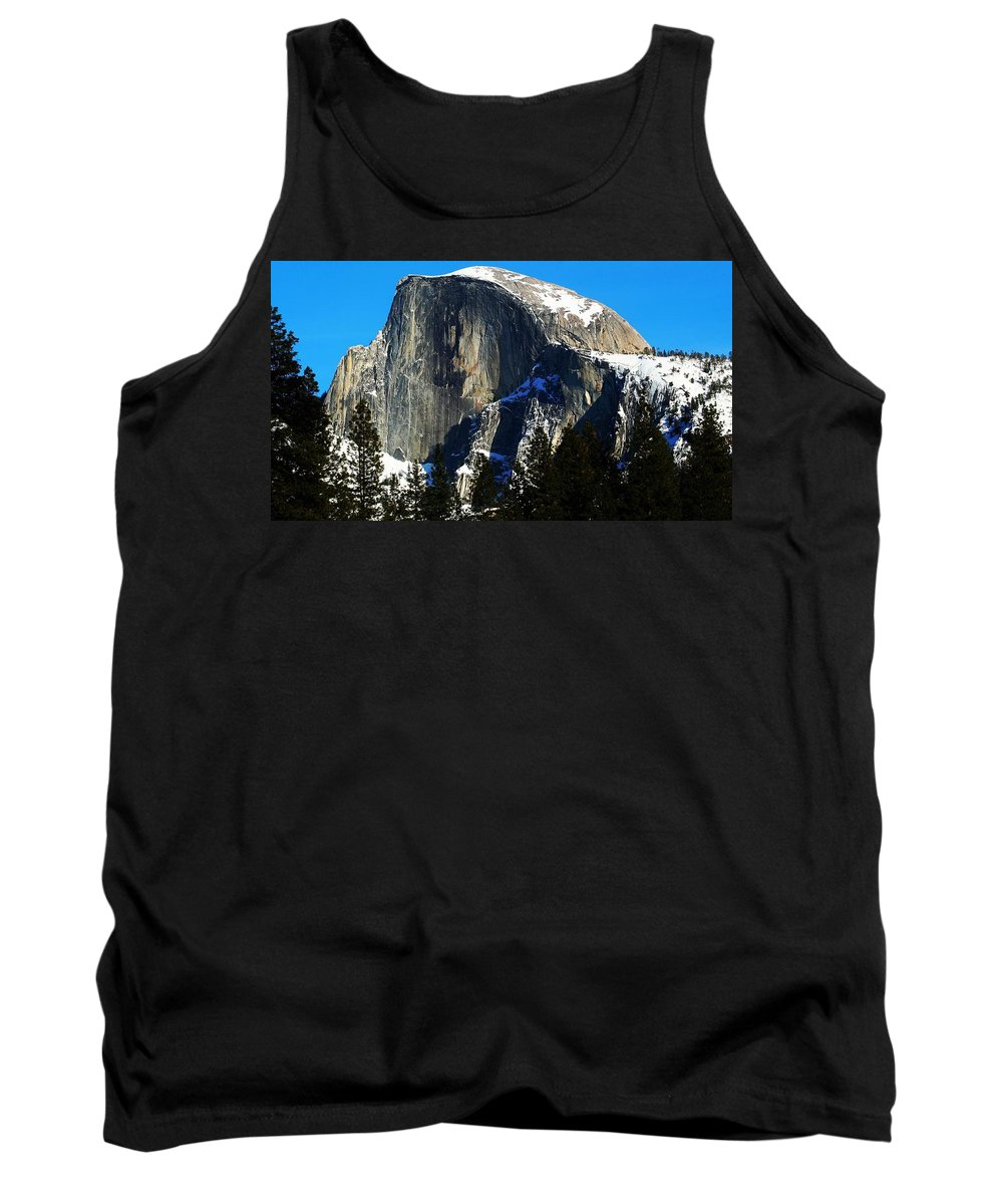 Yosemite National Park Tank Top featuring the photograph Half Way Half Dome by Phil Cappiali Jr