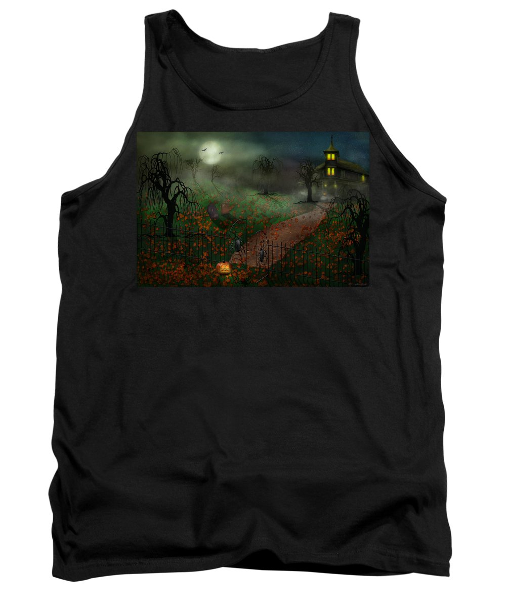 Hallows Tank Top featuring the photograph Halloween - One Hallows Eve by Mike Savad