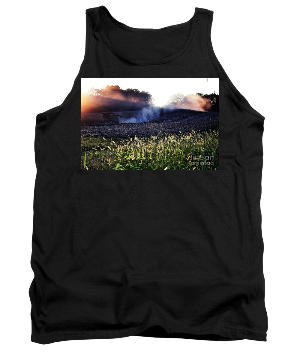 Harvest Tank Top featuring the photograph Harvesting by Melanie Kirdasi