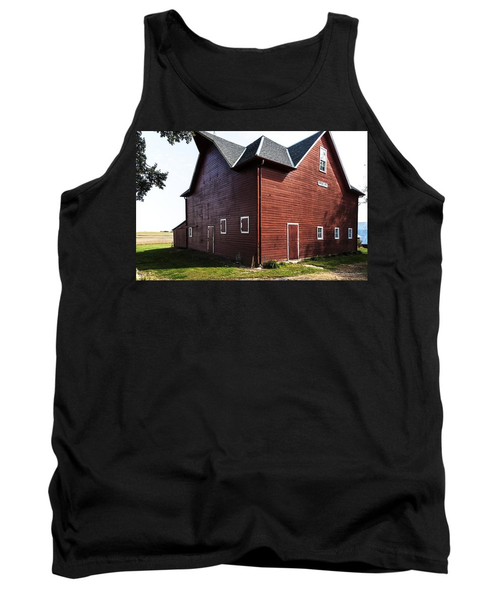 Barns Tank Top featuring the photograph Heflin Barn by Edward Peterson