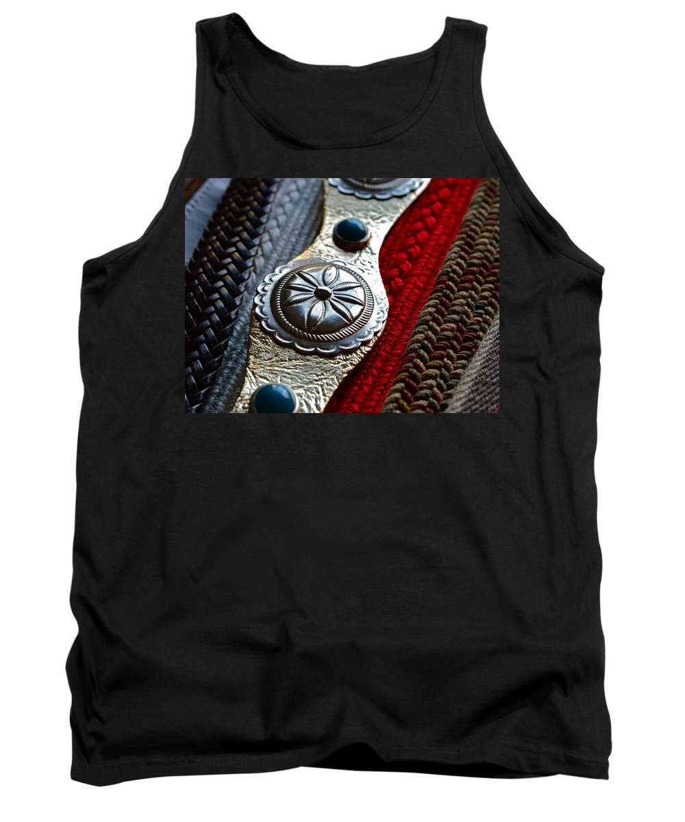 Old Belts Tank Top featuring the photograph Her Disco Belt by Bill Owen