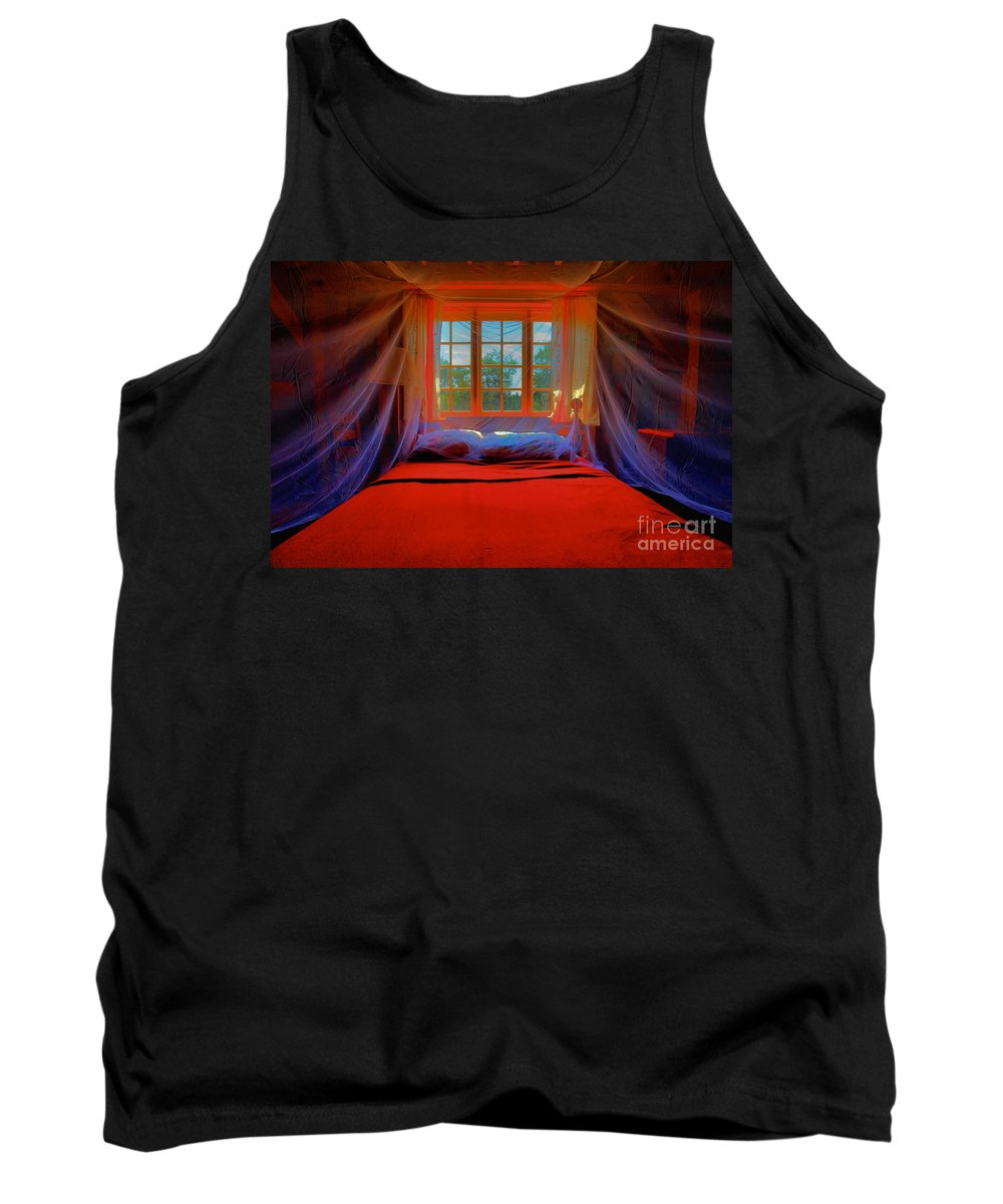 Bed Tank Top featuring the photograph Honeymoon by Adam Jewell
