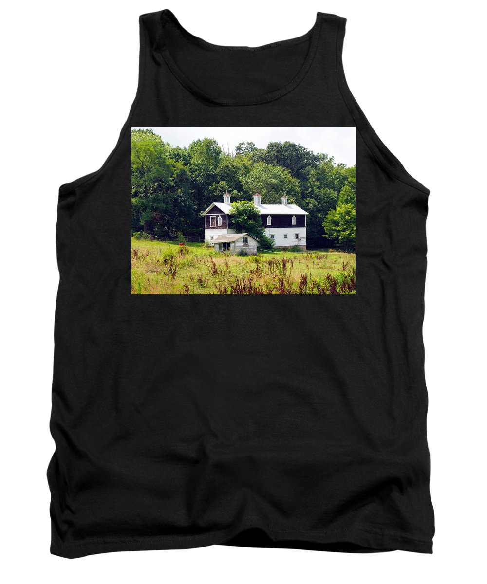 Farm Animals Tank Top featuring the photograph Horse Barn by Robert Margetts