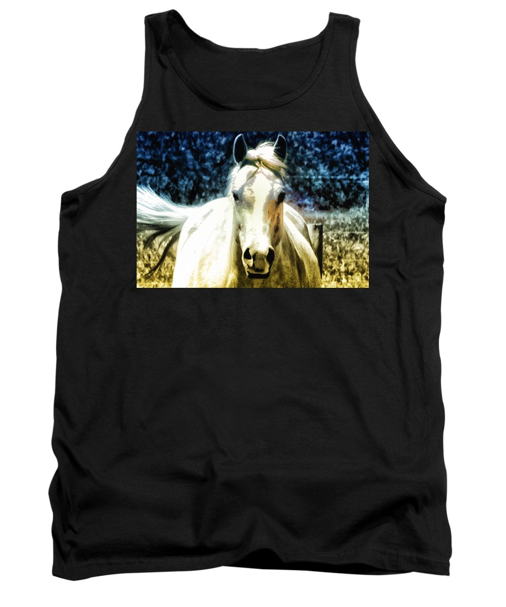 Horse Tank Top featuring the photograph Horse Sense by Bill Cannon
