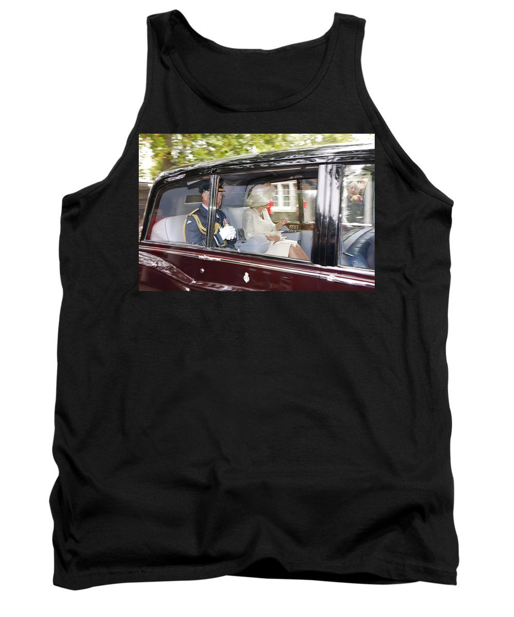 Kg Tank Top featuring the photograph Hrh Prince Charles And Camilla by KG Thienemann