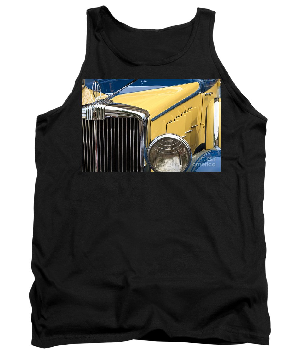 1933 Hupmobile Tank Top featuring the photograph Hupmobile Grille by Dennis Hedberg