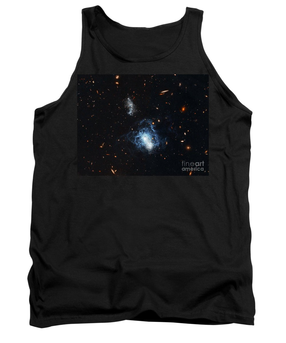 Galaxy Tank Top featuring the photograph I Zwicky 18 Galaxy by Nasa