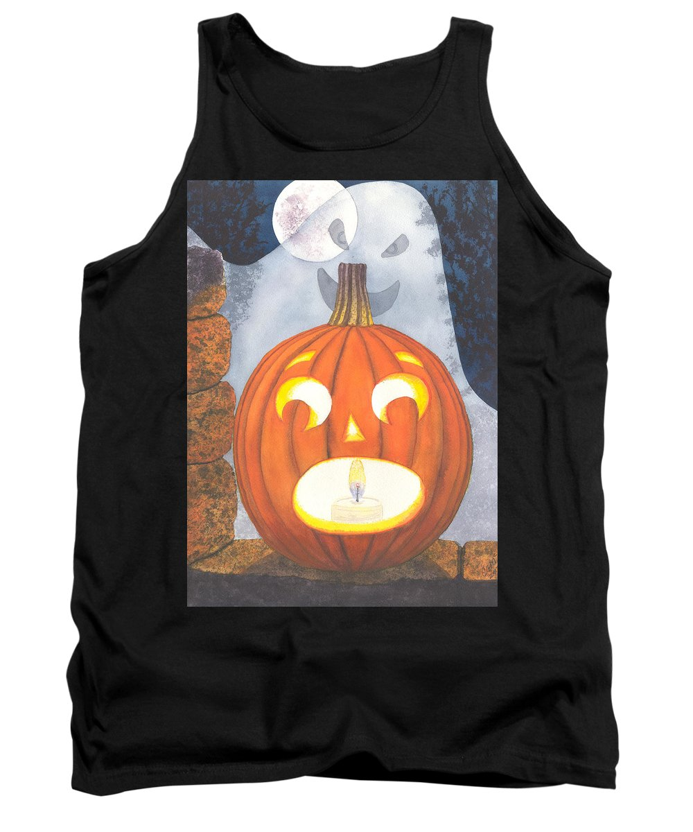 Pumpkin Tank Top featuring the painting If I had legs I'd be running by Catherine G McElroy