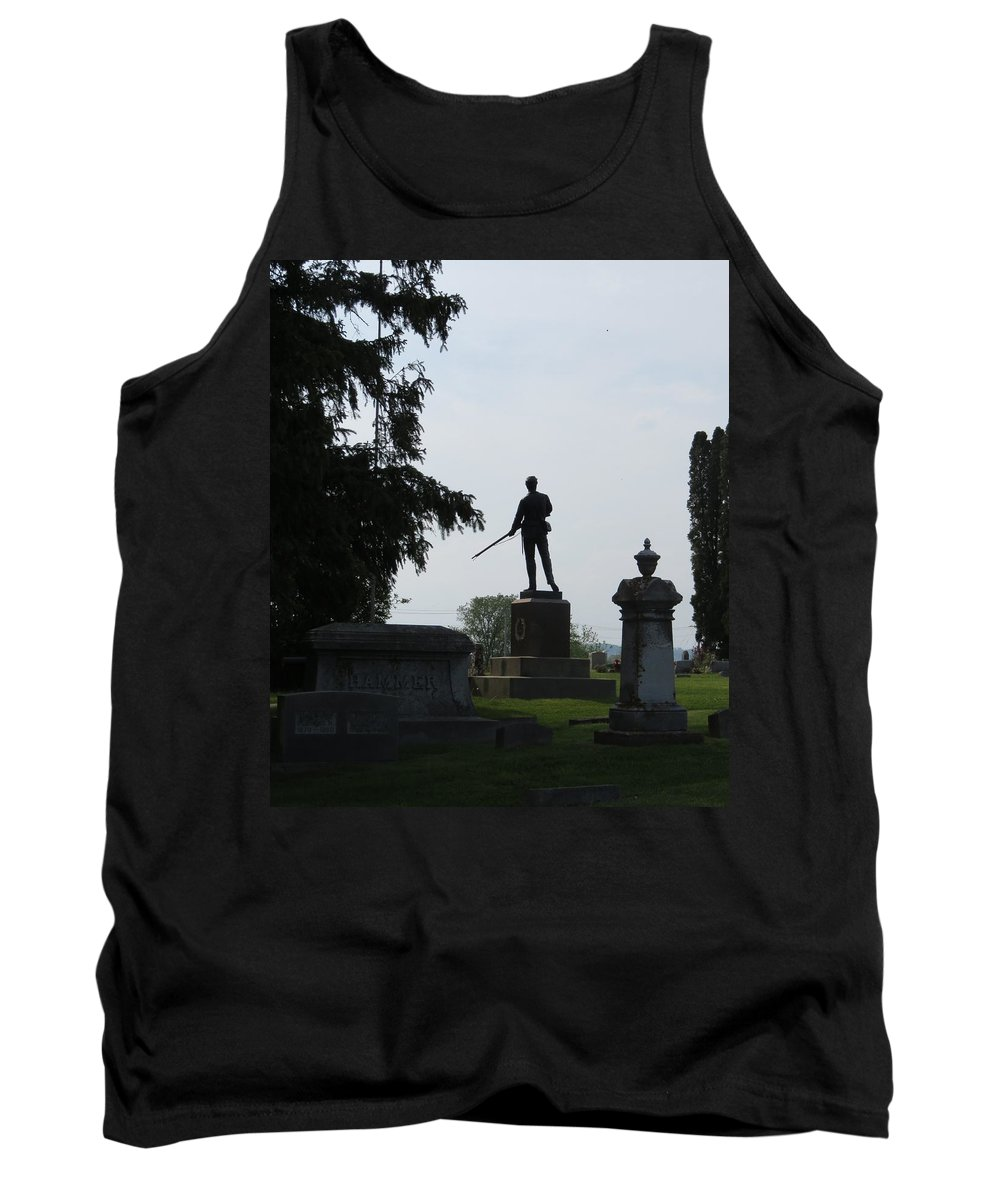 Silhouette Tank Top featuring the photograph In Memory Of The Boys by Kay Novy