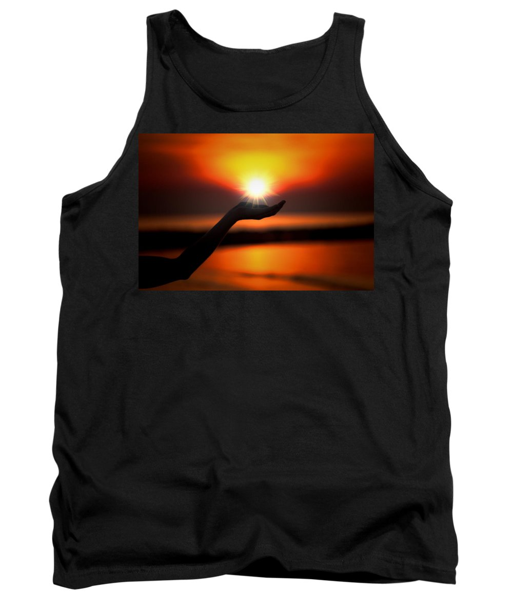 Sunset Tank Top featuring the photograph In The Palm Of My Hand by Douglas Barnard