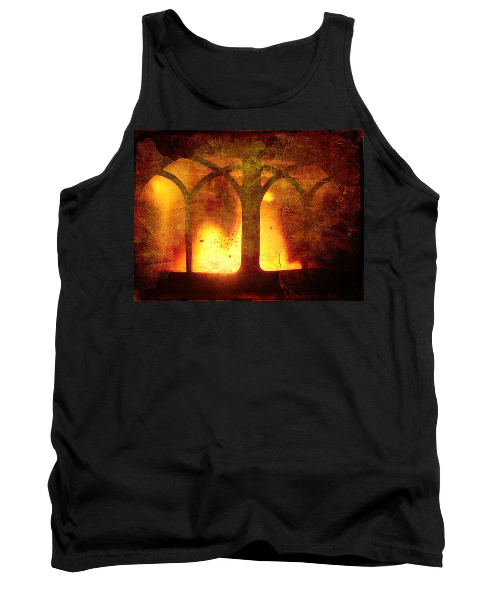 Fire Tank Top featuring the photograph Inferno by Mother Nature