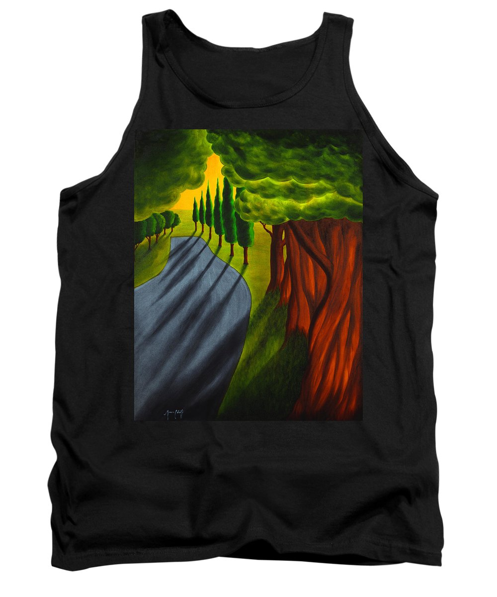Art Tank Top featuring the painting Into The Light by Mauro Celotti