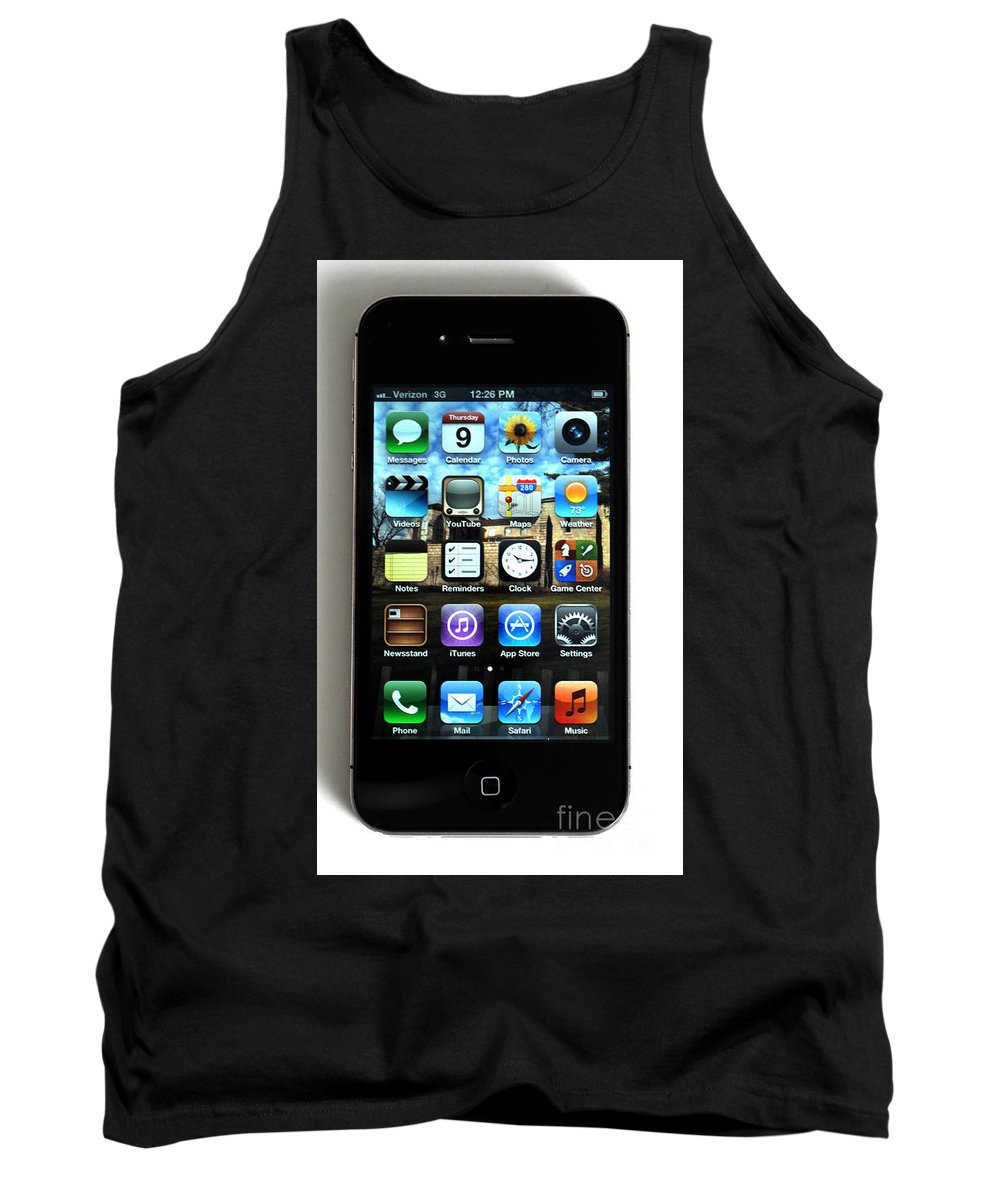App Tank Top featuring the photograph Iphone by Photo Researchers
