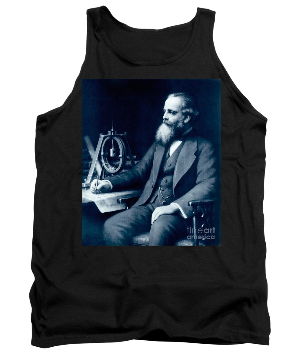 James Clerk Maxwell Tank Top featuring the photograph James Clerk Maxwell, Scottish Physicist by Science Source
