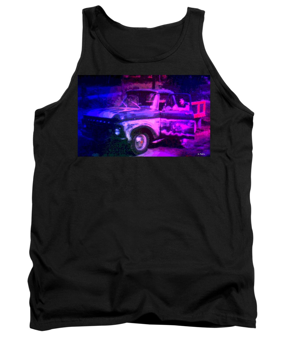 Pontiac Tank Top featuring the photograph Joe And The Pontiac Truck by George Pedro