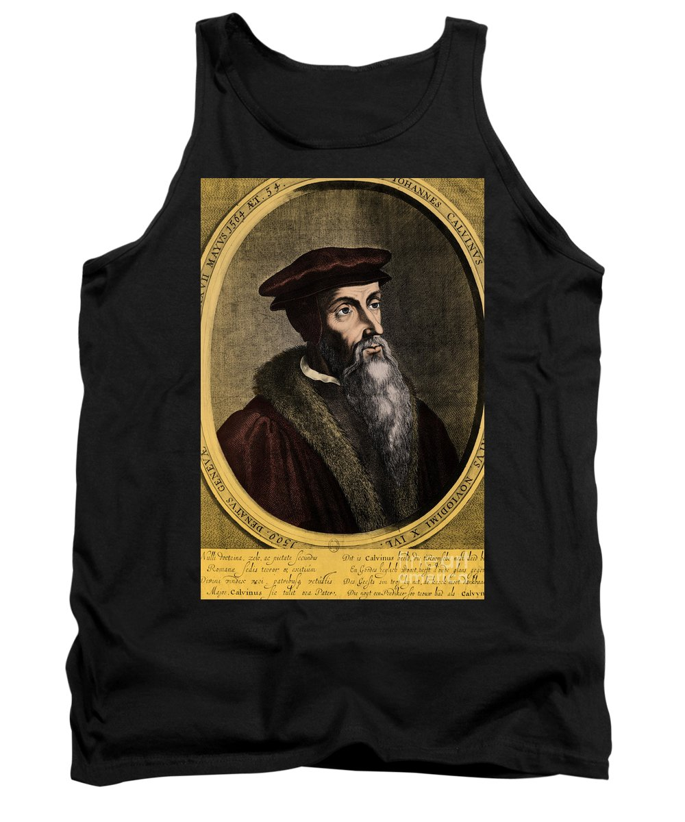 John Calvin Tank Top featuring the photograph John Calvin, French Theologian by Omikron