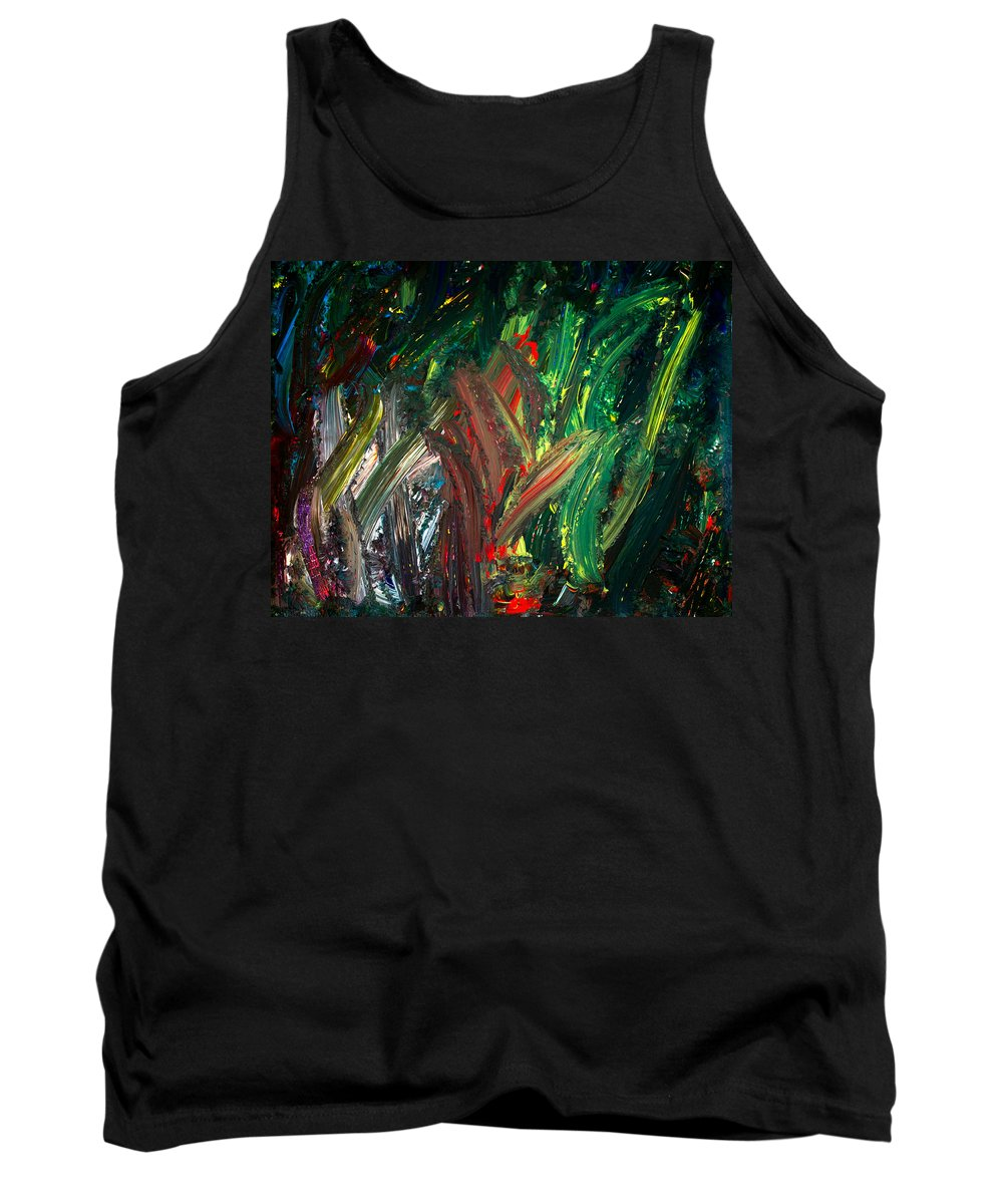 Ocean Tank Top featuring the painting Kelp Forest by Marie Jamieson